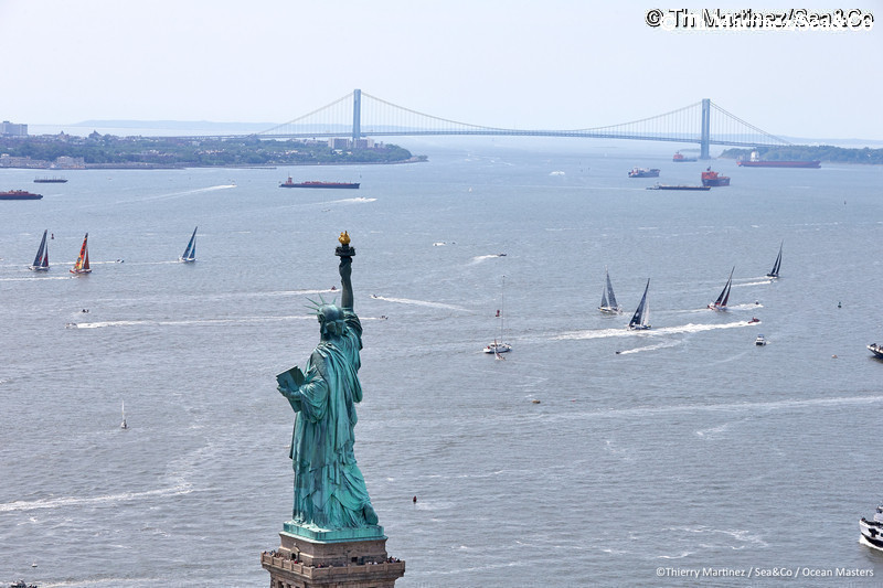 16_12860-NY-VENDEE(Les Sables)-Start : 16_12860  ©Th.Martinez/Sea&Co/OSM.  NEW YORK CITY - NEW YORK- USA. 29 MAY 2016. Start of NEW YORK-VENDEE (Les Sables d?Olonne) presented by Currency House & SpaceCode, (Single-Handed transatlantic sailing race from New York-USA to Les Sables-FRA -3100 NM . © Th.Martinez/Sea&Co