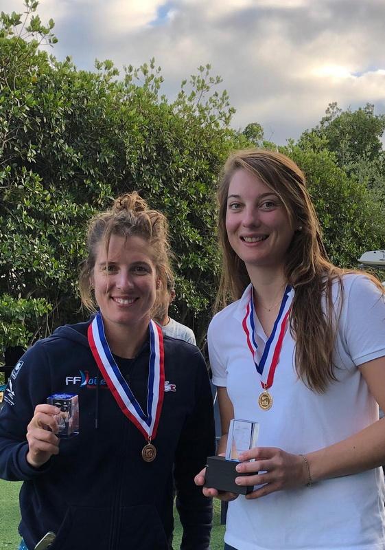 Miami Championnat Nord americain  Medaille Or Camille Lecointre et Aloise Retornaz